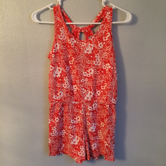 27d53afea0a Old Navy orange and white girls romper